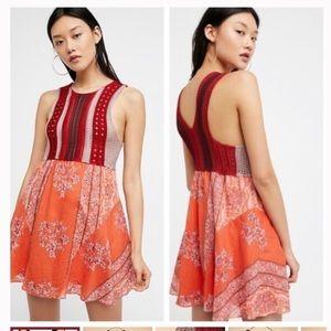 Free People Crochet Mini Dress Size L